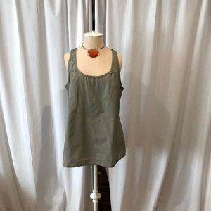The North Face Khaki Sleeveless Top Large